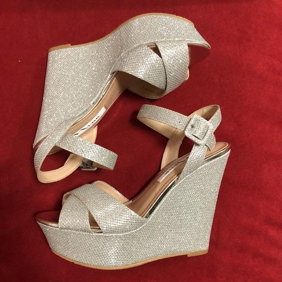 1335edca245 Silver Platform Wedge Dress Shoes